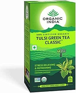 Pack of 2 - Organic India Tulsi Green Tea Classic - 25 Tea Bags