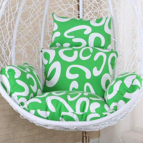chair Swing Cushion,Hanging Egg Pads, Non-Slip Soft Swing Cushions Without Stand Indoor Balcony Pad Garden Patio-g,Colour:T (Color : A)
