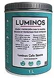 Luminos LUM1103 - CALA SAONA - Lasur Bio al Agua Protector para madera Exterior - Azul Cala Saona 1L
