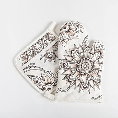 Henna Tattoo Oven Mitt and Potholder Set