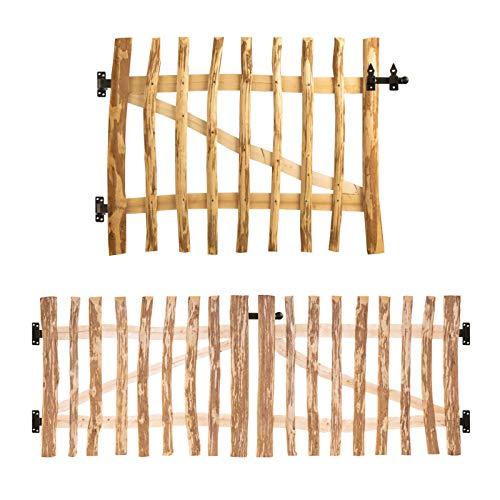 BooGardi Gartentor-Bausatz Haselnuss 120 Größen • 80-300cm breit • 80-150cm hoch • 3-5 oder 7-9cm Lattenabstand • Breite 300 x Höhe 80 cm 7-9 cm