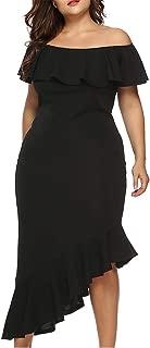 EverChic Women's Short Sleeve Dress Ruffles Multiple Dressing Layered Plus Size Mini Dress