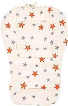 Cojín de Cochecito de algodón para bebé Cojín con 2 tiras Cochecito Asiento de la silla de paseo Accesorios de Cochecito para niños pequeños