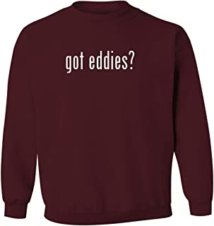 got eddies? - Men's Pullover Crewneck Sweatshirt, Maroon, X-Large