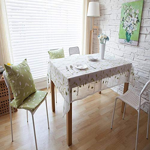 Koreanische Baumwolle Tischdecke Blau Bestickte Tischdecke Tischdekor Moderne Tischdecke Staubdicht Tuch@140X180Cm_Als Foto