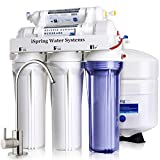 iSpring RCC7 High Capacity Under Sink 5-Stage Reverse Osmosis Drinking Filtration System and Ultimate Water Softener, White