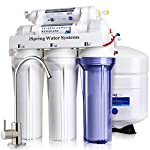 iSpring RCC7, NSF Certified, High Capacity Under Sink 5-Stage Reverse Osmosis Drinking Filtration System and Ultimate… 10 This system is certified to NSF/ANSI 58. High Capacity Reverse Osmosis water filtration for safer, healthier water. This under sink mounted water filter and water softener removes up to 99% of over 1, 000 contaminants, including lead (removes up to 98% of lead), chlorine, fluoride, arsenic, asbestos, calcium, sodium, and more. Experience clean, safe, good-tasting water every time you turn on the faucet. Enjoy crystal clear ice cubes, fresher tea and coffee, better tasting foods, healthier baby formula – even better than most bottled water. Easy, do-it-yourself installation, typically in a couple of hours with industry-leading help just a phone call away. Fits under a standard kitchen sink, with all parts included and clear, well-organized instructions and videos. For leak-free installation, simply push tubing ½ inch deep into quick-fitting connectors and lock - no threading pipes needed.