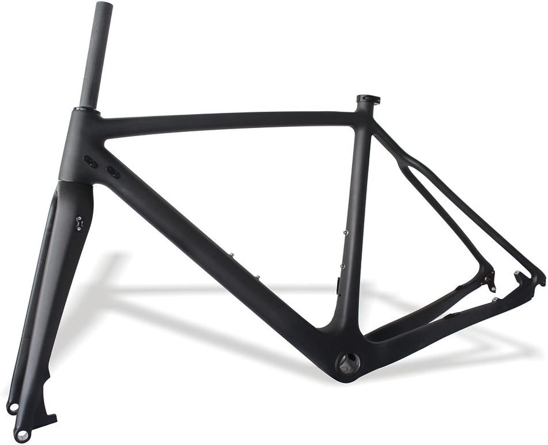 FidgetFidget Framesets Bicycle Carbon Cyclocross Bike Frame+Fork CX Bicycle 700C 56cm