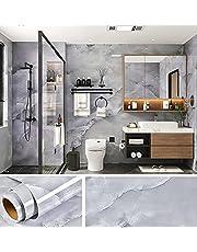 Viopvery 壁紙シール 40cmx1000cm 大理石シート 剥がせる壁紙 壁紙 パウダー はがせるシール 壁 補修 粘着フィルムの壁紙 壁/家具/洗面所/台所/浴室/玄関/テーブル 高級感 おしゃれ 貼付シールタイプ