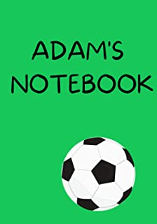 ADAM'S NOTEBOOK: 100 LINED PAGES NOTEBOOK