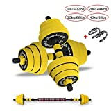 Hanteln Dumbbells Set Large Dumb Glocken Barbell Gummigriffe Festigkeit Gewicht Eisen Adjustable...