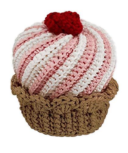 LOOP BABY rosa Kuchen für Spielküche & Kaufaden aus Bio-Baumwolle - auch als Törtchen-Set - gehäkelter Cupcake