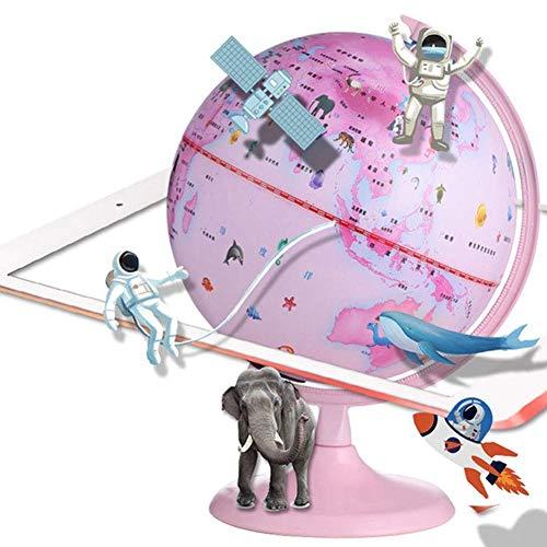 DFBGL Interaktiver Kinderglobus Smart Globe AR World Globe Beleuchtete wissenschaftliche Smart Globe Lampe AR World Geographie für Kinder Wohnkultur Desktop Lernspielzeug für Kinder