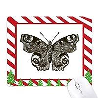 ダークウィングの暗い色の蝶 ゴムクリスマスキャンディマウスパッド