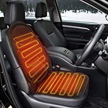 Tvird Heated Seat Cushion 12V Car Heated Seat Covers Comfortable Car Seat Heater Adjustable Temperature for Cold Weather, Winter Driving, Safer Nonflammable UL Wiring-2019 Upgraded (Black)