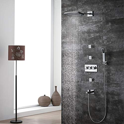 Fantastic Deal! Xihouxian Two Feature Waterfall Top Spray Five Function Cold Hidden Shower Tap Set A...