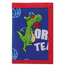 2. SUNDEE RFID Blocking Cartoon Dinosaur Trifold Canvas Wallet