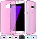 SCOTT-FRANCE Housse Samsung Galaxy S7 Edge, Etui Housse Coque de Protection Ultra Fine Silicone TPU Gel pour Samsung Galaxy S7 Edge (Jelly - Rose)