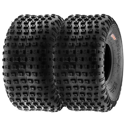 SunF A011 145/70-6 145/70x6 Quad ATV UTV Reifen All-Terrain Reifen mit Straßenzulassung 6PR TL E Prüfzeichen Pfad Ersatzreifen, Satz von 2 Stück