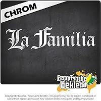 ラ・ファミリア La Familia 20cm x 6cm 15色 - ネオン+クロム! ステッカービニールオートバイ