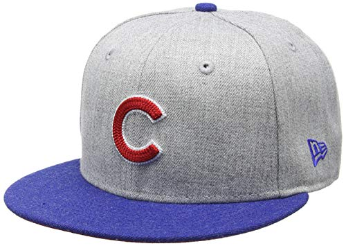 New Era Heather Crsp 2 Fit Chicub Hgrotcotc Cap, Grey, 738
