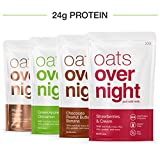 Oats Overnight - Oatmeal, Whey Protein, Rolled Oats, Low Sugar, Gluten Free, Variety Pack, 3 Ounce...