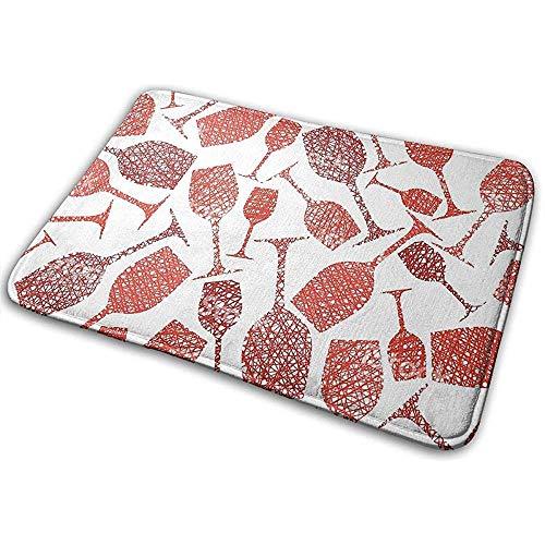 Eingangsbodenmatte Teppich Indoor Outdoor Haustürmatte Fußmatten mit Weinglas Red Clip Arts