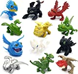 How to Train Your Dragon 12 pcs Action Figures Set - New Dragons
