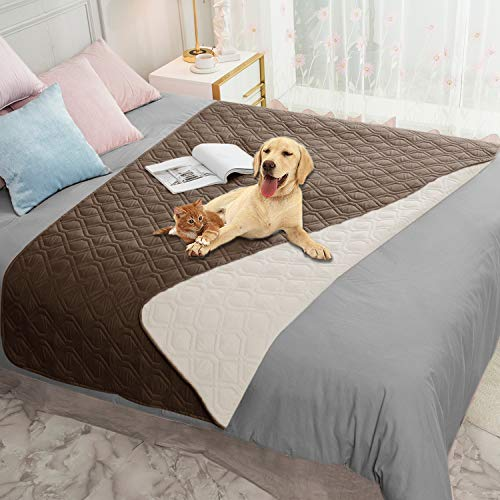 Ameritex Waterproof Dog Blanket for Bed Couch...