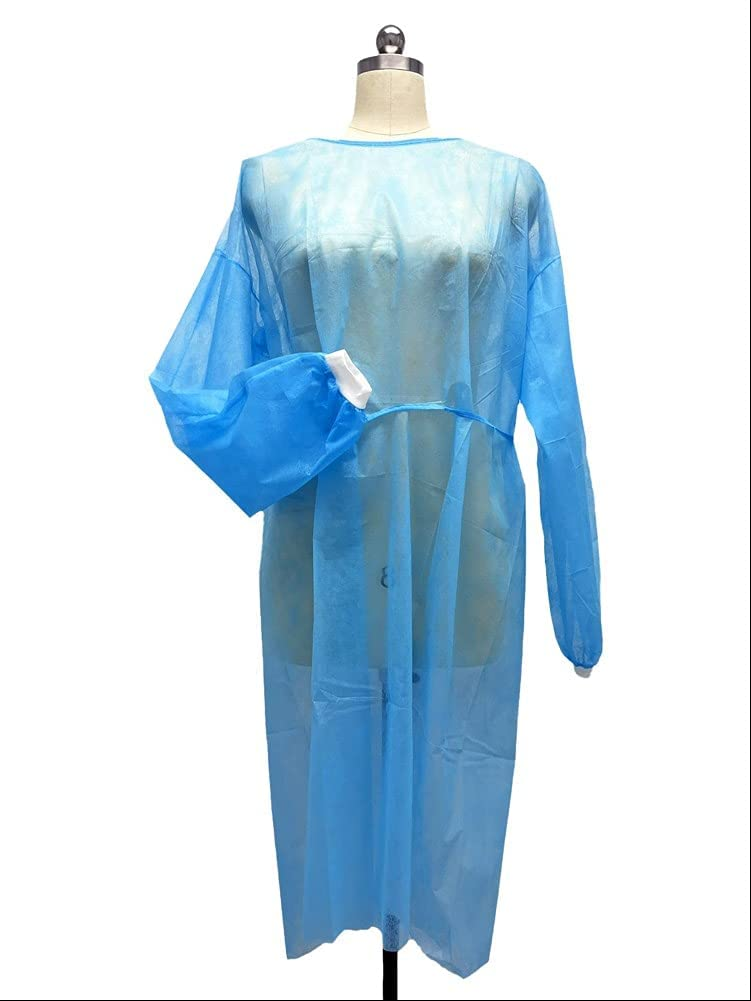 AHCHOO Disposable Isolation mart Gowns Long Fits One-Sized outlet Sleeves A