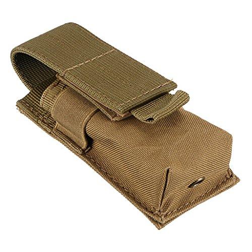 Generic Taktische Gürteltasche, als Handytasche, Taschenlampen Halter verwendet kann - Hochwertig und Robust, Multifunktionell - Khaki, 14X5.5X4CM
