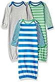 Amazon Essentials - Pack de 3 sacos de dormir de bebé para niño, color fantasía (Colorblock), US 0-6M (EU 56-68)