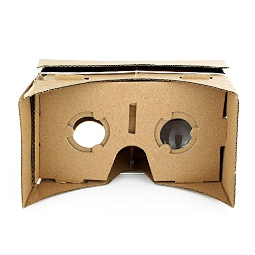 Ballylelly Ulter Clear DIY Cardboard 3D VR Virtual Reality Glasses For Smartphone DIY Magnet Google Cardboards Glasses