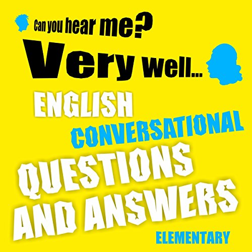 English conversational questions and answers audiobook cover art