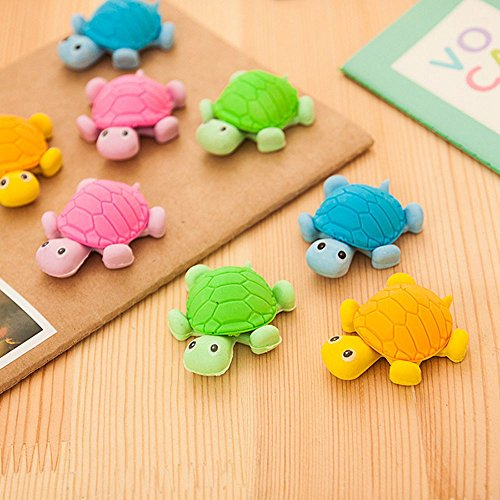 Crazy Night 10PcsTurtle Erasers Erasers Cute Funny Novelty Pencil Eraser Kid Gift Toy (turtle)