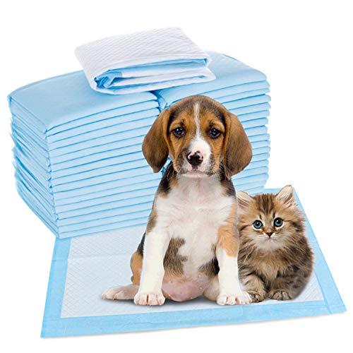 HyAiderTech Tappetini Igienici per Cani, Telini Assorbenti per Addestramento Cuccioli, Pannolini per Animali Domestici, Traverse Senza Perdite, Assorbente, 45 x 60 cm(50 Pack)