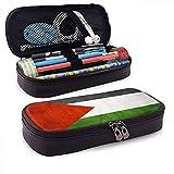 Palästina flagge große kapazität leder federmäppchen bleistift stift schreibwaren halter box...