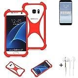 K-S-Trade® Mobile Phone Bumper + Earphones For Meizu 15