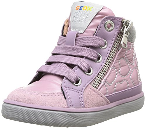 Geox B Kiwi Girl, Baskets Mode bébé Fille - Rose (Glicine), 24 EU