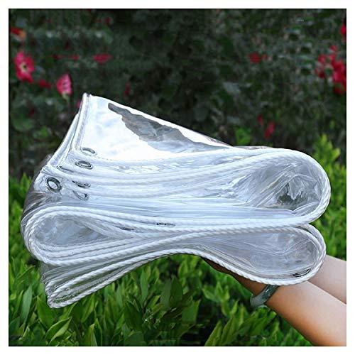 CHAOXIANG Lona De Protección, Proteccion Solar Durable Cubre La Lluvia Cloruro De Polivinilo Suave El Plastico Paño De Lluvia, Varios Tamaños Personalizable (Color : Claro, Size : 1.6x3m)