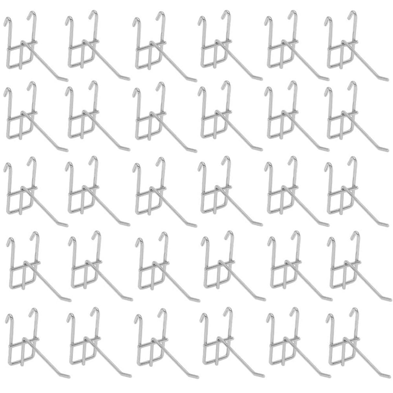 気分が悪いブルーベル拳[ルボナリエ] ネットフック メッシュ パネル フック メタルラック (50mm, 30本)
