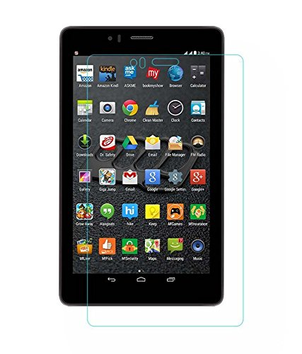 Colorcase Tablet Tempered Glass Screenguard for Micromax Canvas Tab P470 Tablet