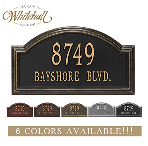 Metal Address Plaque Personalized Cast The Providence Arch Plaque. Display Your Address and Street Name. Custom House Number Sign.