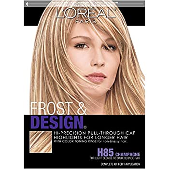 L Oreal Paris Frost and Design Cap Hair Highlights For Long Hair H85 Champagne 1 kit