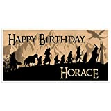 The Lord Of The Rings Birthday Banner Party Decoration Backdrop