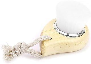 Tyou フェイシャルブラシフェイスウォッシュブラシポアケアブラシ木製フェイシャルブラシすべての肌タイプのためのフェイシャルクリーニングツール1個