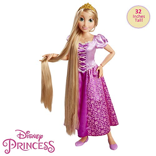 Jakks Pacific- Princesas Disney, muñeca Rapunzel tamaño Especial (80 cm), Multicolor (61773)