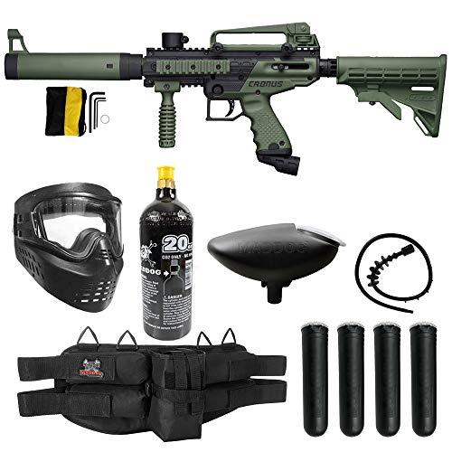 Maddog Tippmann Cronus Tactical Silver CO2 Paintball Gun Marker Starter Package - Black/Olive