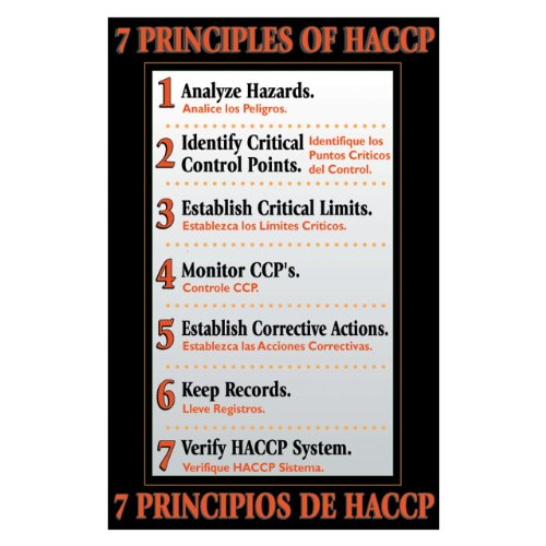 "DayMark 7 Principles of HACCP Poster 11"" x 17"""
