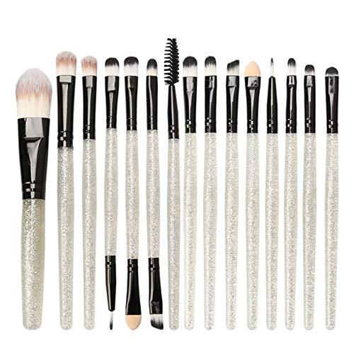 DMXY Mag 15Pcs Pro Brush Makeup Glitter Makeup Brush Set Herramientas Maquillaje Kit de artículos de tocador Shiny Brushes Set Кисти Для Макияжа L510,E